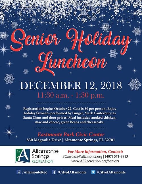 2018 Senior Holiday Luncheon Flyer