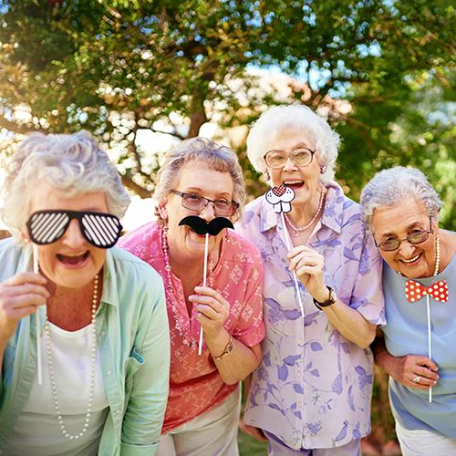 Senior Ladies Having Fun