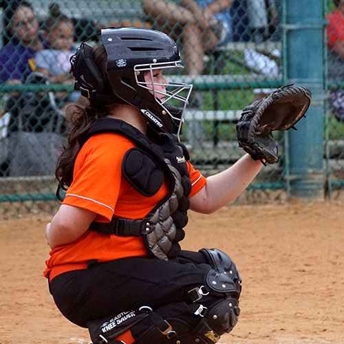 Female Softball Catcher