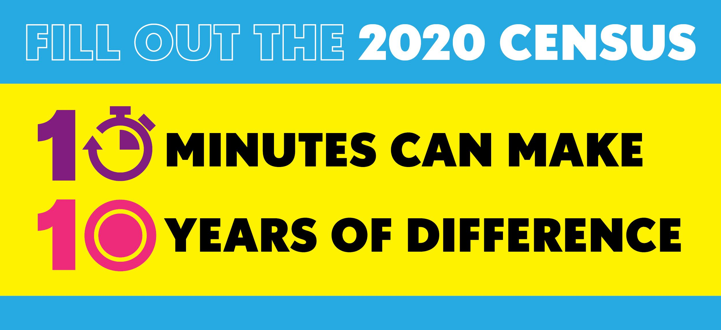 Fill Out the 2020 Census 10 Minutes Can Make 10 Years of Difference