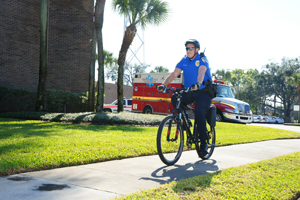 Officer on bike