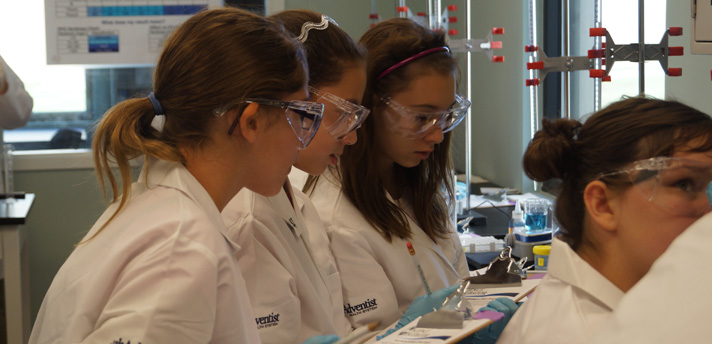 Girls in Lab