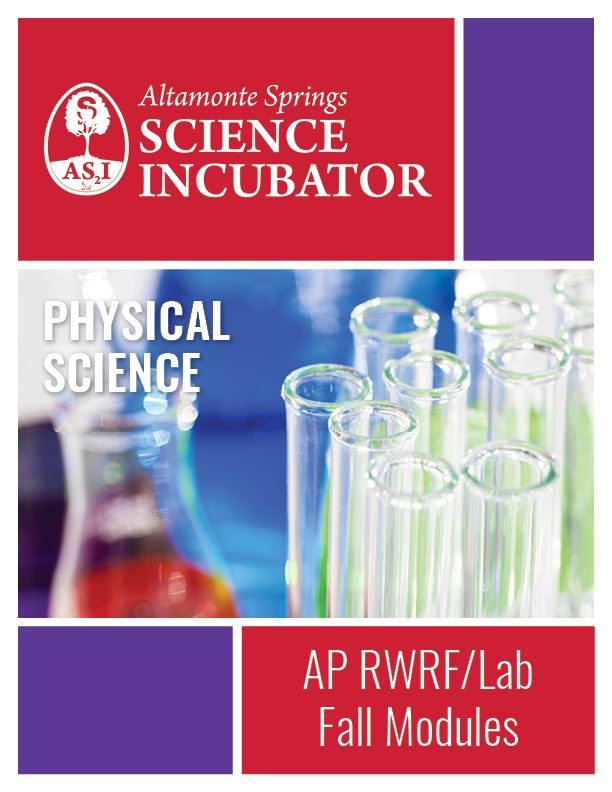 Altamonte Springs Science Incubator Advanced Placement  RWRF Workbook