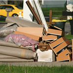 Furniture and Trash on the Curb for Pick Up